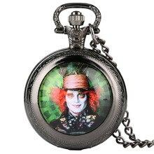Mad Hat modèle Quartz montre de poche Alice au pays des merveilles thème Fob montres pour hommes femmes mode horloge cadeaux pour enfants garçons
