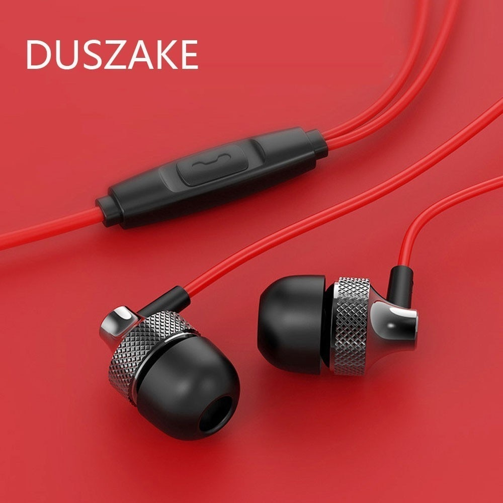 Duszake Bass Sound Earphone In-Ear Sport Earphones With Mic For Xiaomi IPhone Samsung Headset Fone D