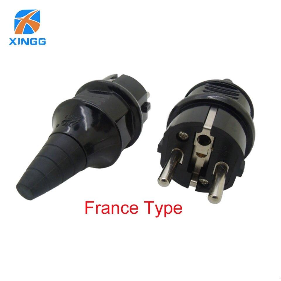 UE impermeable IP54 Industrial energía eléctrica francés tipo E enchufe rebobinable toma de corriente adaptador macho 250V 4000W