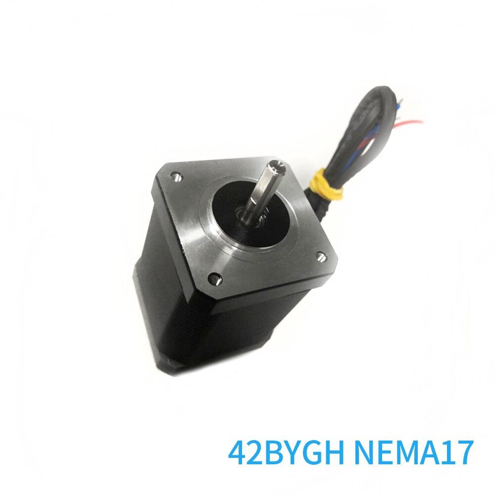 Nema 17 محرك متدرج 42BYGH 4 الرصاص ثنائي القطب 2 المرحلة 60 مللي متر ل نك طابعة ثلاثية الأبعاد ماكينة حفر عزم دوران عالية شحن مجاني