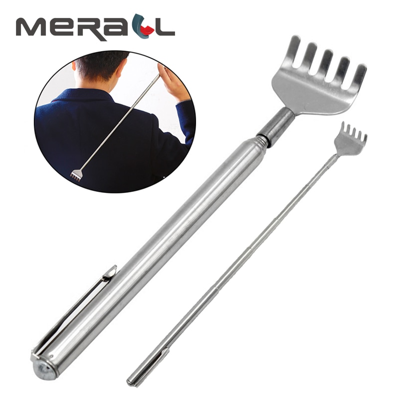 Adjustable Back Scratcher Stainless Steel Back Massage Telescopic Anti Itch Claw Massager Massage To