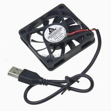 30 pezzi/lottp Gdstime 60mm 60*60x10mm 6010 s 6 cm Motore Brushless 5 Volt USB DC Ventola Di Raffreddamento