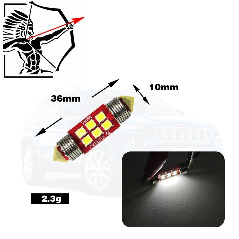 4 Uds de perfecto Led 12-24v canbus led festón 3030 6SMDcar matrícula lámparas rojas c5w 4 leds cúpula lectura luz blanca