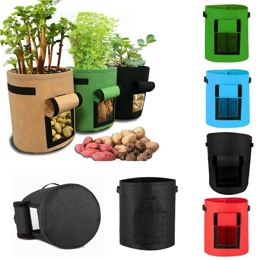4 цвета Растениеводство мешок Овощной цветочный горшок контейнер DIY картофель