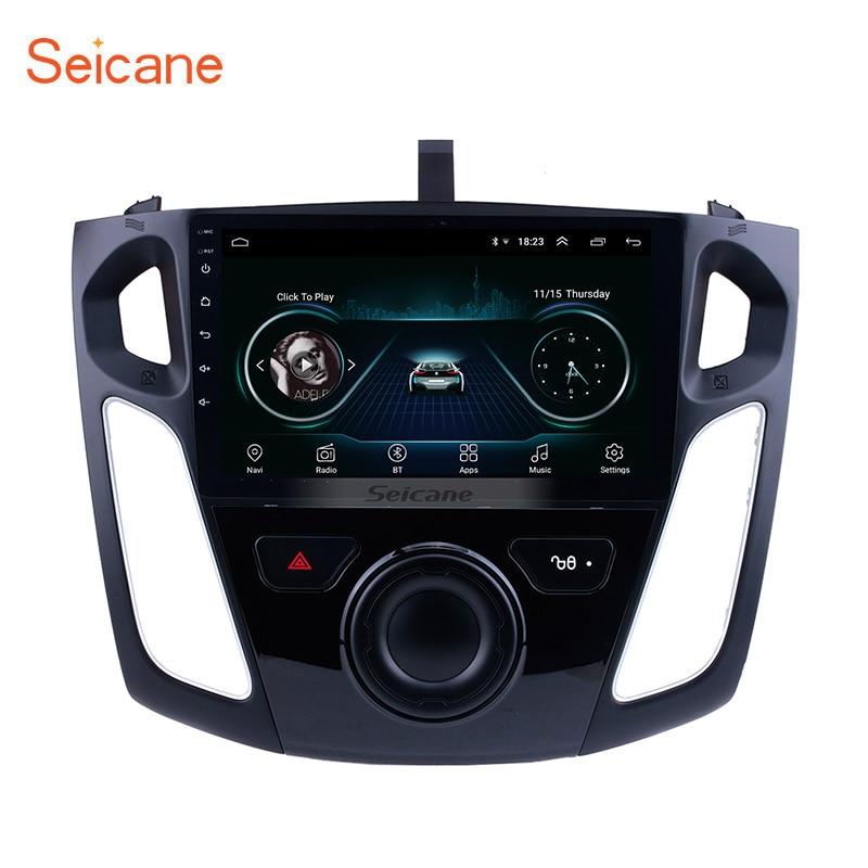 Seicane 9 pulgadas Android 8,1 reproductor Multimedia Radio del coche para 2011, 2012, 2013-2015 Ford Focus estéreo soporte Bluetooth WIFI USB OBD2