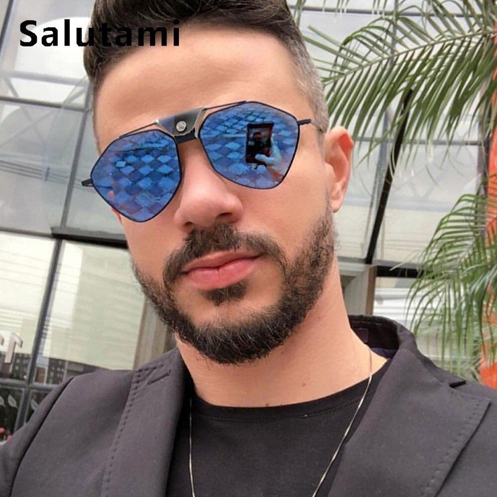 Поляризационные солнцезащитные очки из полигонального сплава для мужчин, 2019, роскошные брендовые зеркальные солнцезащитные очки из искусс...