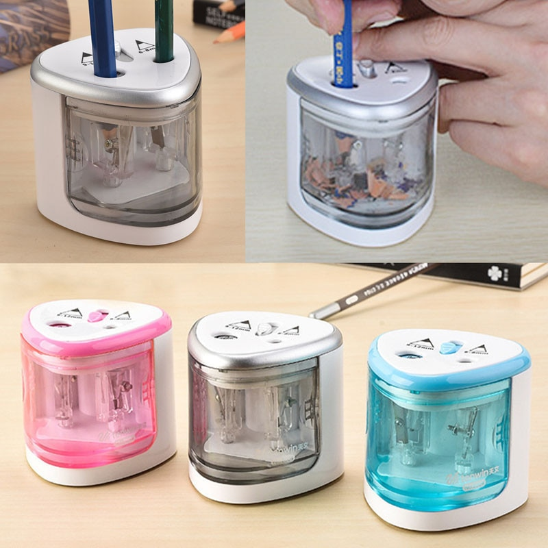 2019 Automatic Pencil Sharpener Stationery Electric Pencil Sharpener Pen Knife Student School Supplies Office Christmas Gift