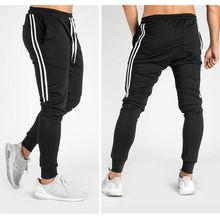 Dei nuovi Uomini di pantaloni Della Tuta Hip Hop Fitness Jogging 2019 Primavera Maschio Banda Laterale High Street Hip Pantaloni Lunghi Pantaloni Stile Harem Sweatpant