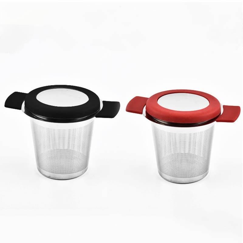 Coffee Filters Stainless Steel Reusable Tea Infuser Lid Fine Mesh Loose Tea Leaf Tools Tea Strainer