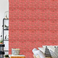 Papier Peint adhésif 3d rouge brique, décoration dinterbricolage