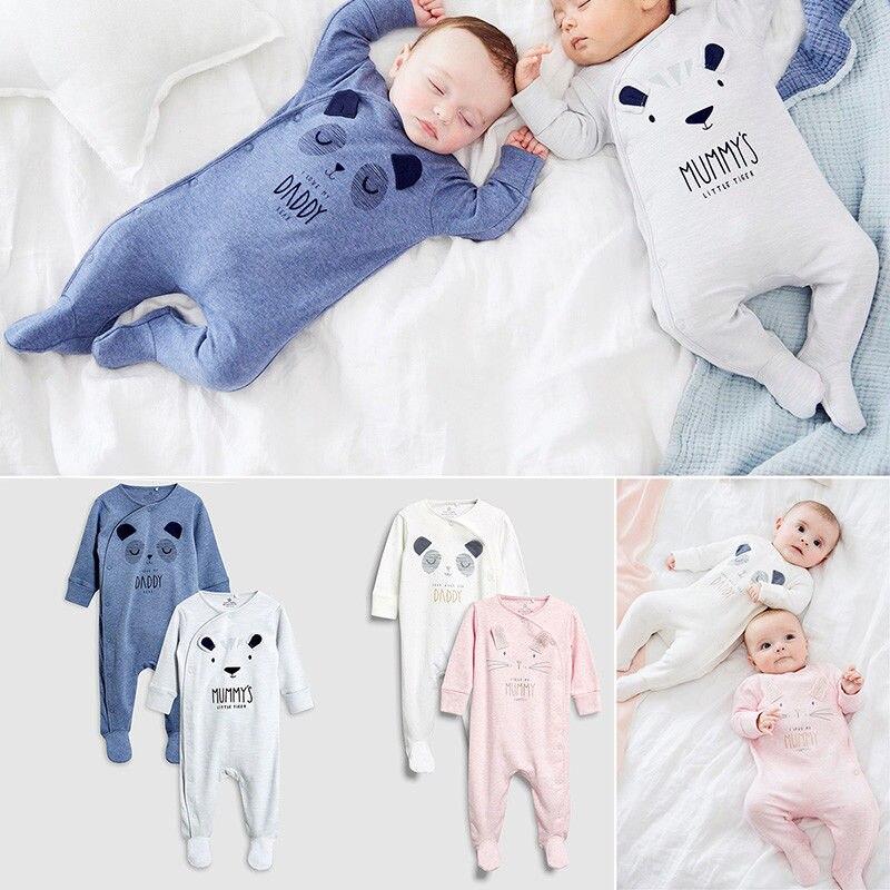 Одежда для новорожденных с рисунком медведя из мультфильма, комбинезоны с длинными рукавами для мальчиков и девочек, Комбинезоны для детей 0-18 месяцев