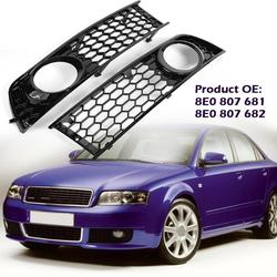 VODOOL Frente Lado Inferior Névoa Luz Grille Para 2002-2005 Audi A4 B6 Auto Car Remodelar Grill Bumper GZ.E053L/R Car Styling Peças