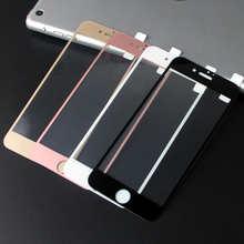Закаленное защитное стекло с 3D краями для iPhone X XS 6 6s 7 8 Plus 7Plus 8 Plus, черное, белое, розовое золото, 2.5D 9H HD, полное покрытие