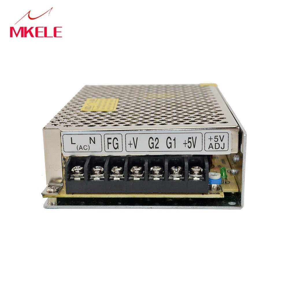 Portátil accesorios de iluminación Smps D-60B 60 W 5 V 24 V AC-DC de salida Dual Schakelende Voeding Uitgangsspanning Ac Dc convertidor