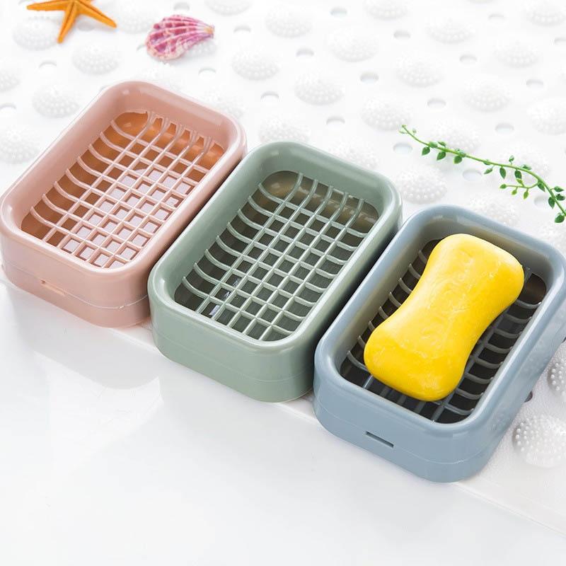 Держатель для мыла, двухслойные аксессуары для ванной комнаты, пластиковая насадка для мыла для душа, нескользящий дренажный инструмент, дренажная Коробка для мыла, 1 шт.