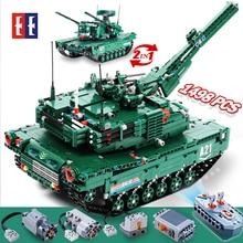 cada rc  Building Blocks tank toy ww2 Remote Control M1A2 RC Tank Wars Military Weapon Model Bricks  kids Toys for children boys