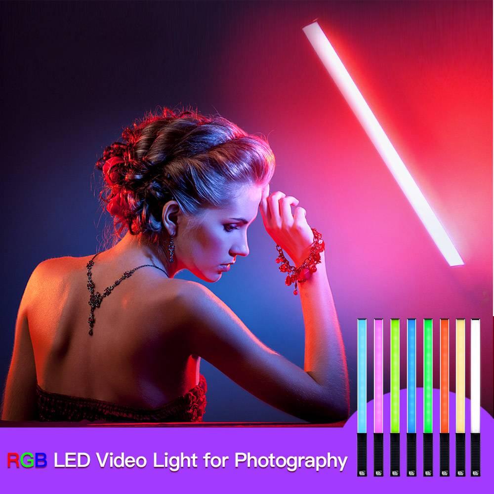 Luxecg RGB LED فيديو ملء ضوء ملون يده 10 واط 3000 كيلو المهنية صور اضواء فلاش صمامات ليد Speedlight التصوير الفوتوغرافي الإضاءة