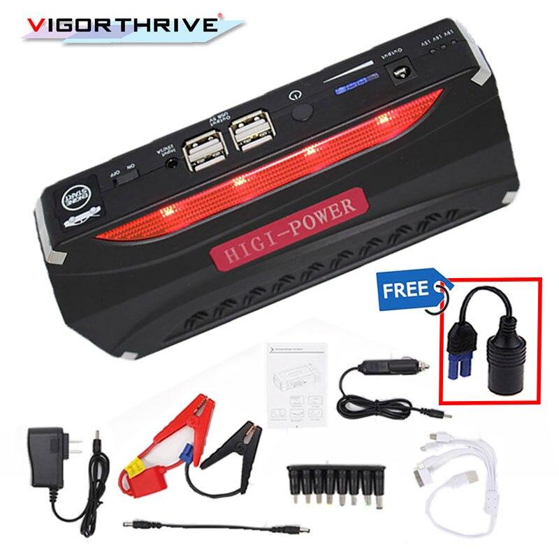 Mini Emergency Auto Jump Starter 12 V Portable Power Bank Batterij Oplader Auto booster Autolader Starten Apparaat LED 12000 mAh