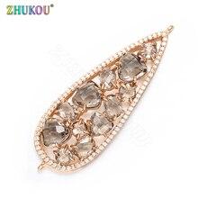 ZHUKOU 19mm Bracelet Necklace Connectors for Diy Jewelry Findings Earrings Bracelet Jewelry Accessories Pendant connector VS302