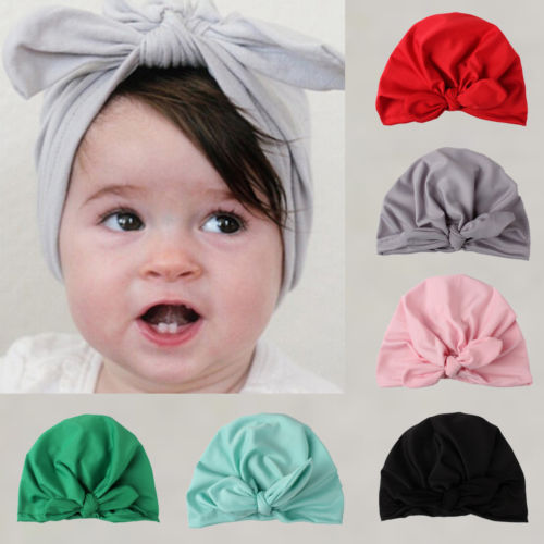 Gorros nuevos para bebé, bonito gorro de algodón turbante para niño recién nacido para niña bebé, gorro de invierno liso