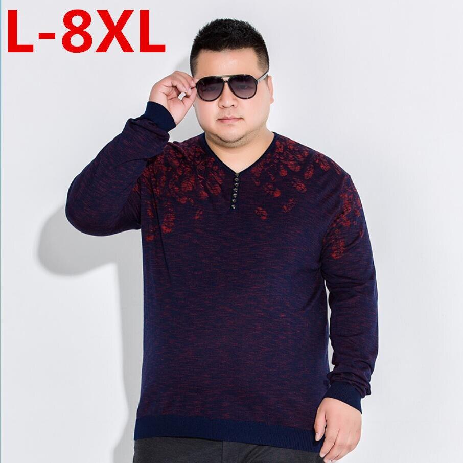 10xl 8xl 6x pulóver hombres cuello pico suéter hombres camisa de manga larga hombres suéteres de lana Casual vestido tejido de punto de Cachemira Pull Homme