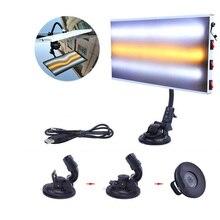 Lumière LED 3 bandes voiture carrosserie lampe pour sans peinture Dent réparation grêle travail denlèvement directement alimenté par USB 5V réparation voiture dent