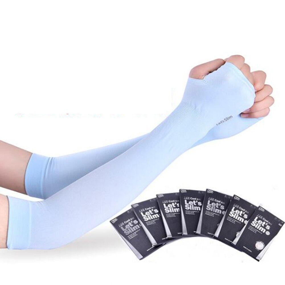 Длинные перчатки солнце УФ защита рука протектор чехол рука рукава лед шелк солнцезащитный крем рукава на открытом воздухе рука теплее половина палец рукава