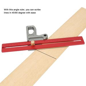 Woodworking 45/90 Degree Angle Ruler Scribe Gauge Measuring Tool Woodworking Measuring Tool 300mm