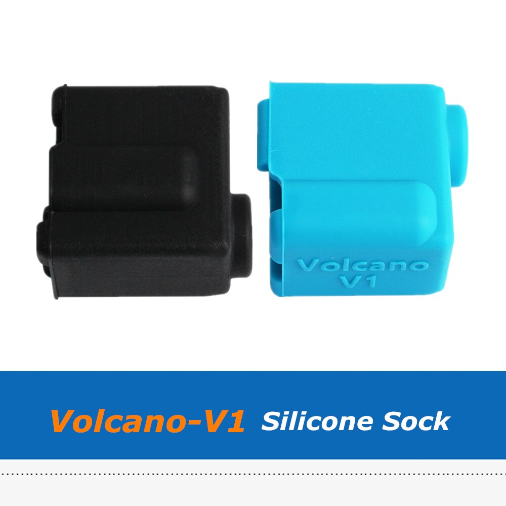 2pcs 3D Printer Parts Volcano V1 Silicone Sock Heated Block J-head Hotend Bowden/Direct Extruder Reprap Block Cover 20*20*11.5mm