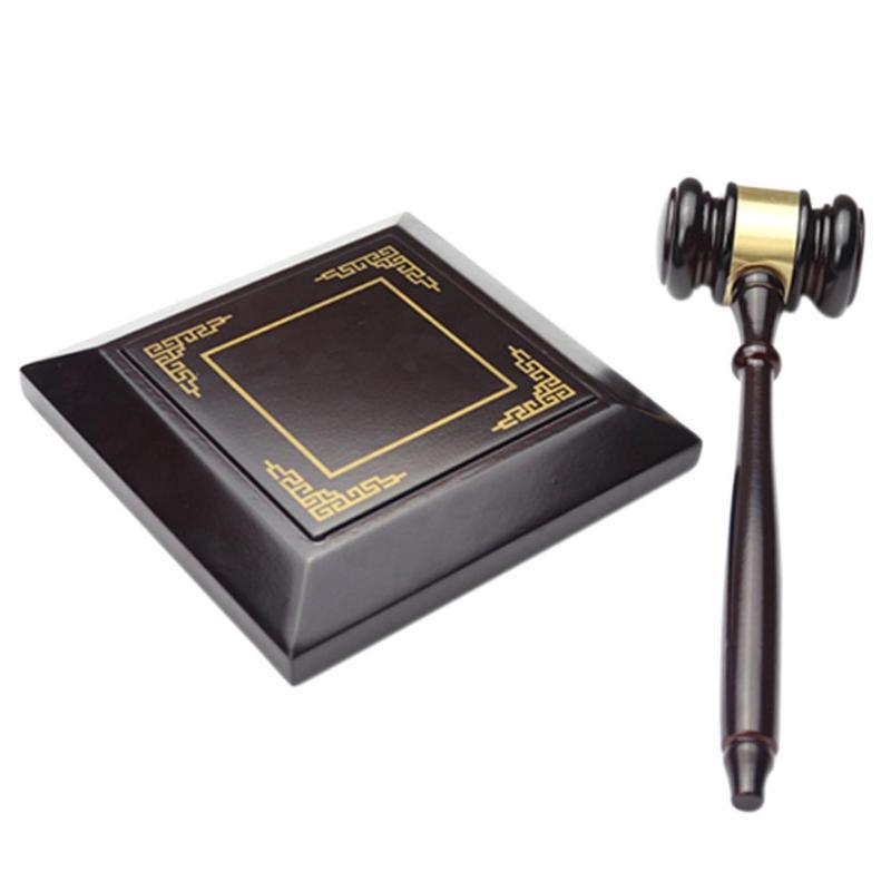 Martillo para subastas de madera para el abogado juez hecho a mano martillo para subastas de madera abogado juez hecho a mano corte de la Ley Venta de martillo de decoración