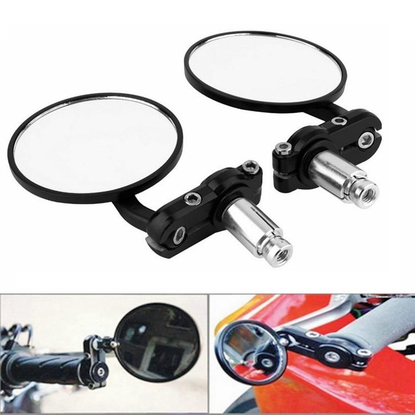 "2 штуки пара зеркал заднего вида мотоцикла круглое 7/8 ""Ручка Бар Конец складной мотоцикл боковое зеркало для Suzuki для Kawasaki forHonda"