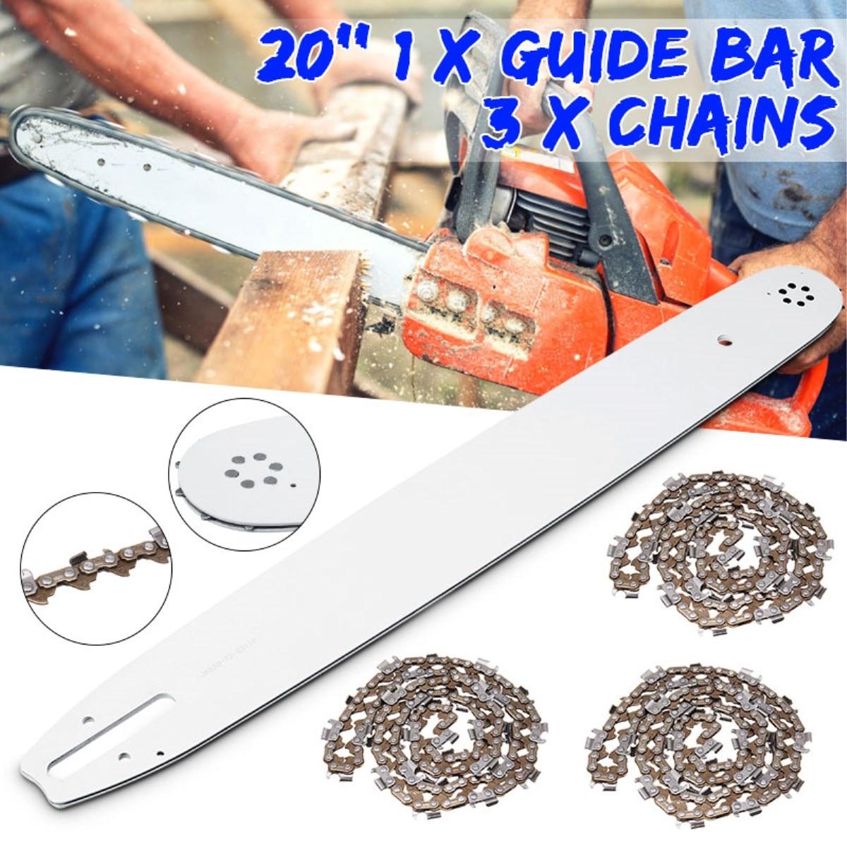 Barra de guía de 20 pulgadas y cadenas de 325 058 76DL para sierra de cadena baumr-ag SX62 SX66 62CC 66CC Accesorios