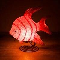 12v safe voltage led desk lamp night lights christmas lights party deocoration fish theme figurine led lamp holiday lights gift