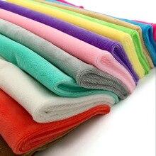Zyfmptex-tissus Minky pour la couture   1 pièces, tissu Textile fait à la main pour jouets, tissu en peluche, Patchwork de couleur unie, Style 45*50cm