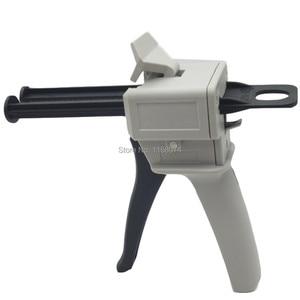 50ML AB Epoxy Glue Gun Applicator Glue Adhesive Gun Mixed 1:1 and 2:1 Two Component AB Glue Dispensing Gun Hand Tool Brand New