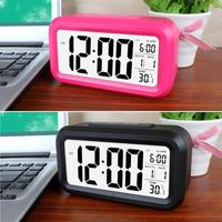 Home Smart Temperature Mute Backlight Electronic Digital Alarm Clock LED Snooze Table Clock Wake Up Alarm Clock Home Decor
