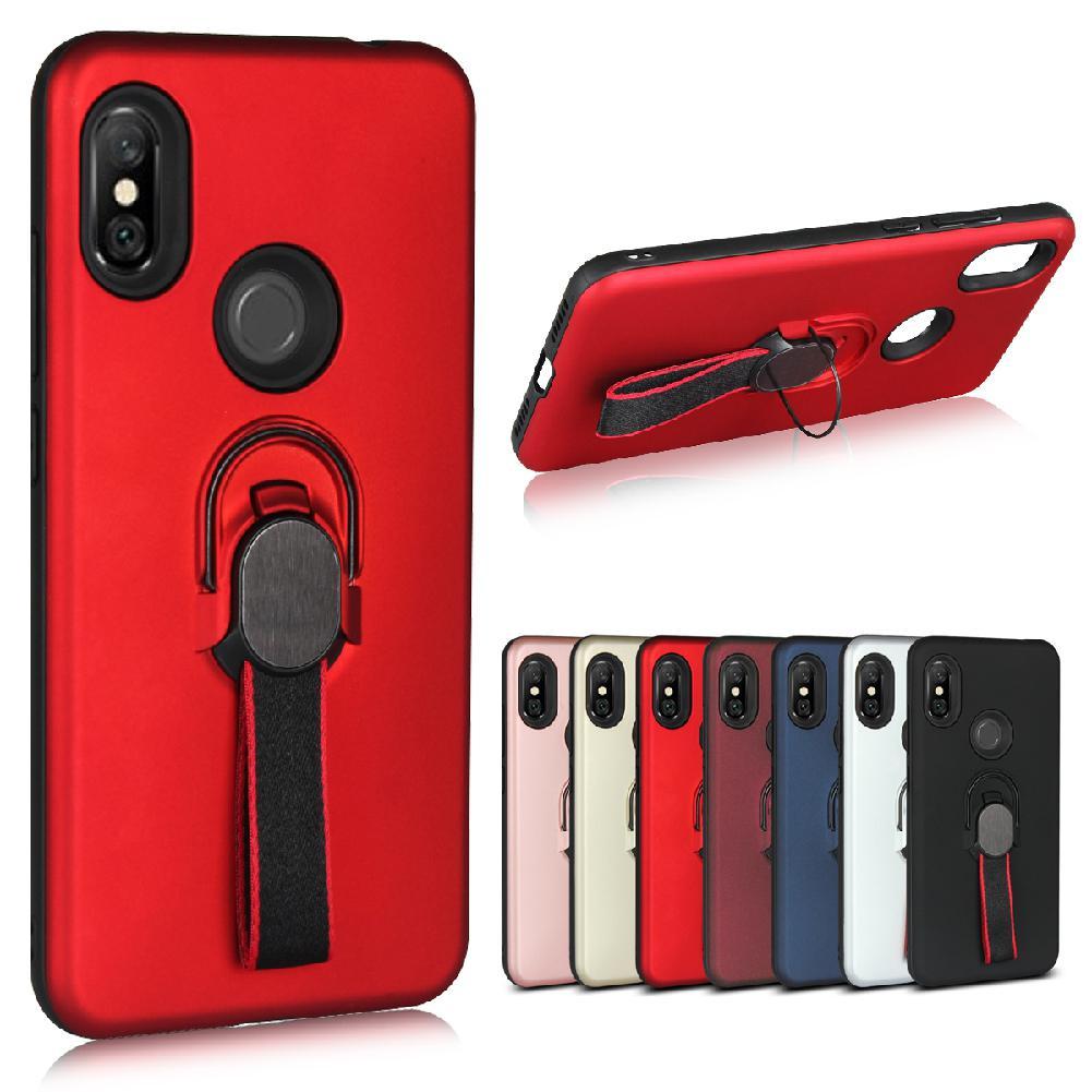 Para Samsung A9 star J8 J6 para Redmi NOTE6/NOTE6 pro moda de lujo PC + TPU soporte de escritorio Shell único anillo de dedo funda de teléfono r20