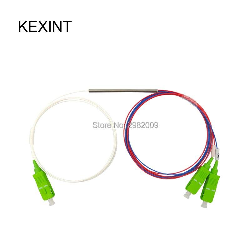 Coupleur de câble à Fiber optique FBT coupleur 10/90 5/95 15/85 20/80 avec connecteur SC/APC/séparateur optique à fiber