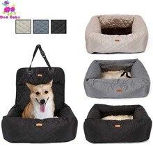 2 en 1 transportador de perro mascota protector plegable para asiento de coche Transportín seguro casa cachorro bolsa accesorios de viaje para coche bolsa de asiento de perro a prueba de agua cesta