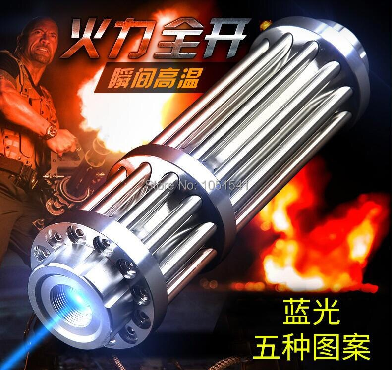 AAA Most Powerful Burning Lazer Torch Cannon 450nm 100000mw 100w Flashlight Blue Laser Pointer Burn Dry Wood Light Cigars Huntin
