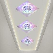 3W Crystal Led Plafond Verlichting Gangpad Lichten Gang Hal Plafond Lustre Lamp AC85-240V Woonkamer Slaapkamer Lamp