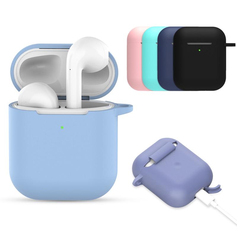 Funda suave de silicona para Airpods a prueba de golpes, funda protectora para auriculares a prueba de agua para iphone 7 8, accesorios para auriculares