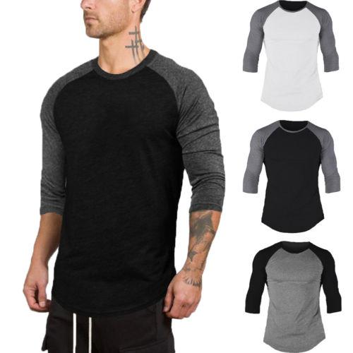 2019 nueva moda para hombre para mujer 3/4 manga béisbol de mangas raglán Triblend camiseta Casual camiseta Jersey