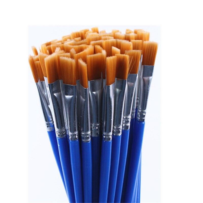 20 peças do mesmo tamanho escovas finas pequenas da pintura do cabelo de náilon para desenhar escovas da aguarela pena das escovas da pintura para fornecedores do artista