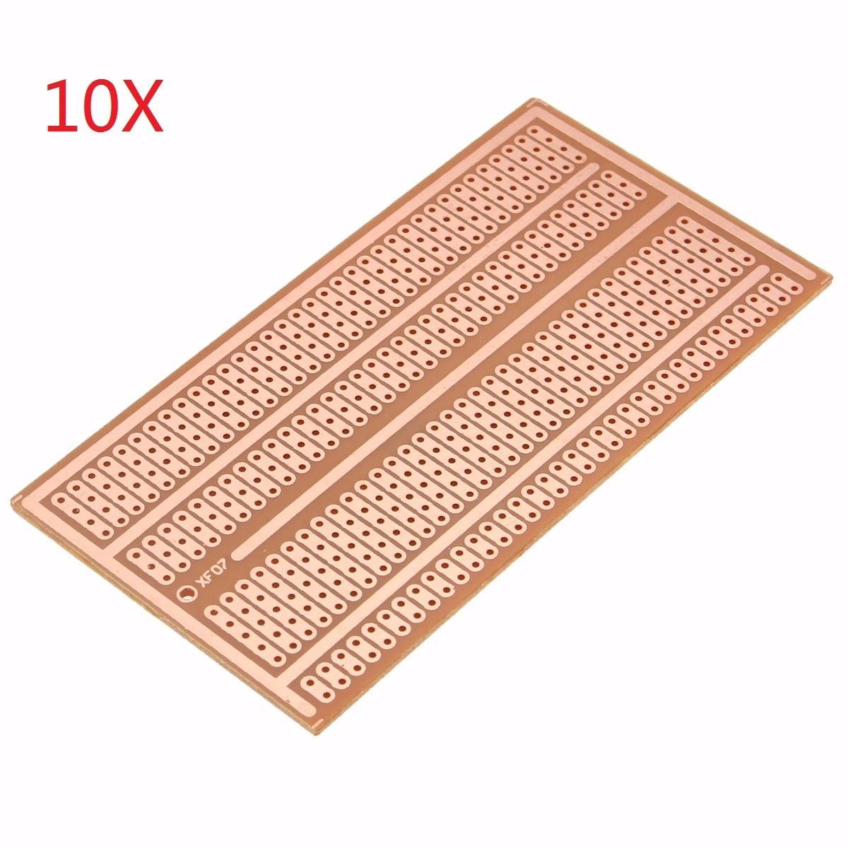 10 Pcs 5x10 centímetros DIY Único Lado De Cobre Placa de Circuito Protótipo de Papel PCB Universal Experiment Breadboard 2- 3-5 buraco conjunta