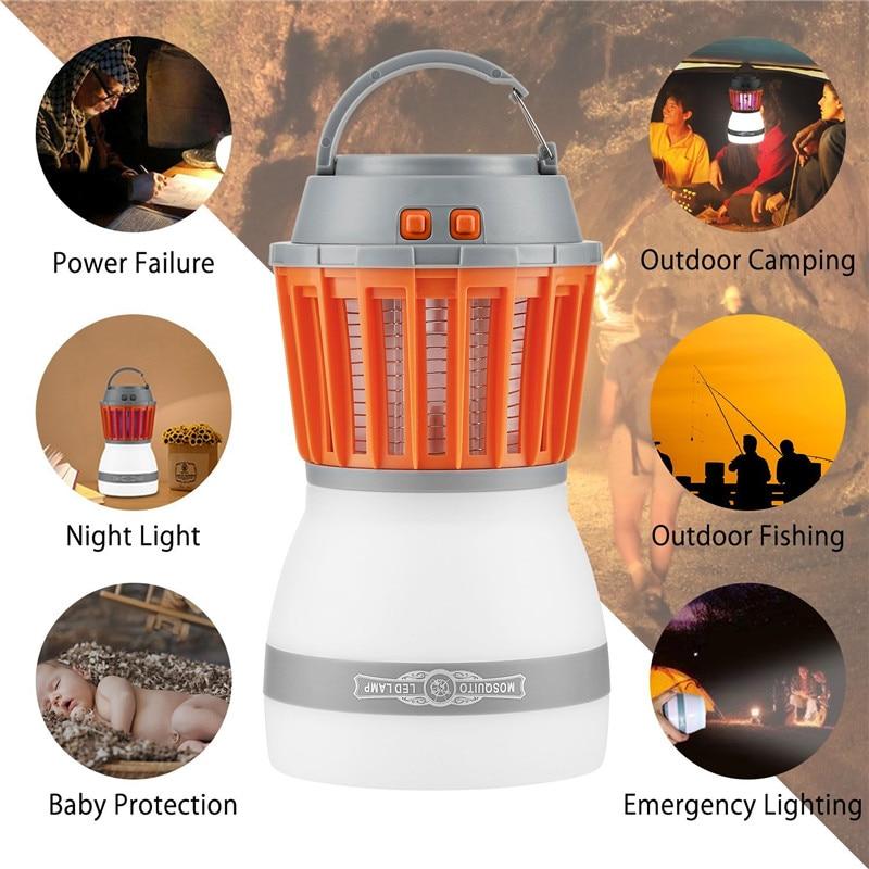 ARILUX Portable LED Mosquito Killer Camping Light USB Charging/Solar Power Multi-fuction LED Light Lamp Waterproof Emergency