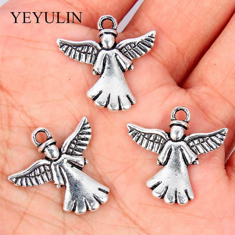 10pcs Tibetan Silver Alloy Praying Angel Charms DIY Pendant Handmade Jewelry Making Necklace Bracelet For Women Men Accessories