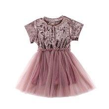Robe princesse pour petites filles   En velours, en Tulle, tenue Tutu de fête danniversaire, vêtements de mariage, pour nouveau-né, nouvelle collection