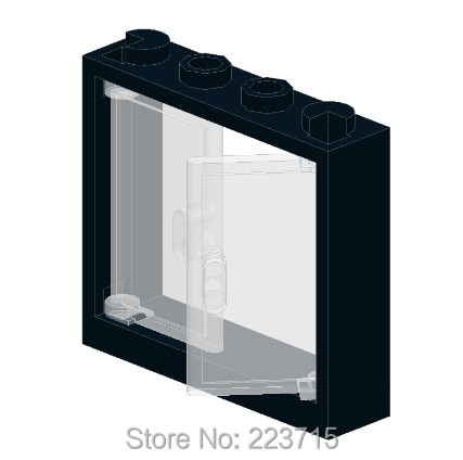 * Marco 1X4X3 + vidrio * G793 10 Uds DIY iluminar bloque ladrillo parte no. 60614 + 60594 Compatible con otras partículas de ensamblaje