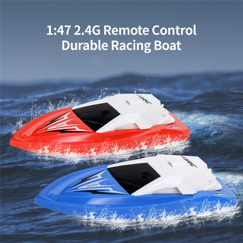 JJRC S5 1/47 10 km/h 2,4G barco eléctrico Rc con doble Motor de carreras RTR barco modelo 20 minis usando tiempo juguetes al aire libre